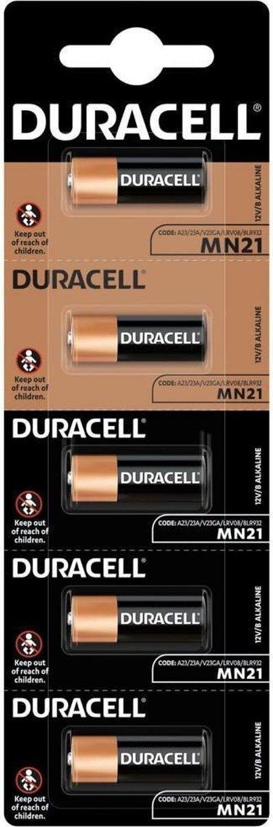 23A Alkaline batterij MN21 Duracell 5 stuks