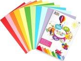 Gekleurd papier | 100 vellen | vouwpapier | Origami | A4 formaat | 10 verschillende kleuren