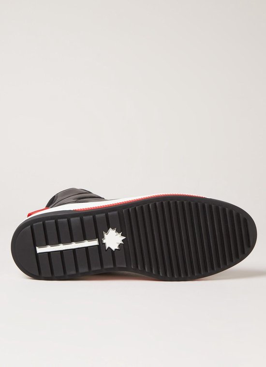 Dsquared2 Barkley sneaker met logo van kalfsleren details - Zwart - Maat 40