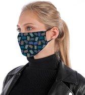 Mondkapje   mondmasker   gezichtsmasker   is van katoen, herbruikbaar, wasbaar. Geschikt voor OV