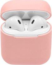 Siliconen Bescherm Hoesje Cover voor Apple AirPods 1/2 Case - Licht Roze