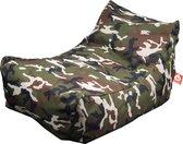 Whoober Lounge stoel zitzak Bali outdoor camouflage - Wasbaar - Geschikt voor buiten