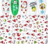 Nagel Kerst Stickers Nail Art 3D - Nagelversiering - Decoratie Stickers - Nagelfolie - 92 stickers
