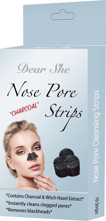 Dear She Nose Pore Strips (10 strips), Diep Reinigende Neus Strips | Mee-eter verwijderen | Blackhead removal | Verstopte poriën | Puisten | Acne | Vette huid | Peeling Nose Mask | Pimplepatches | Skincare | Cleansing Strips