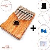 RWW Products Kalimba Set - Duimpiano - Mbira - Muziekinstrument - Mahonie Hout - 17 Tonen