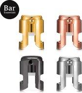 Champagne stopper (set van 4 kleuren) - Champagne afsluiter - Champagnestop - Champagne dop - Champagnestopper - Champagnedop