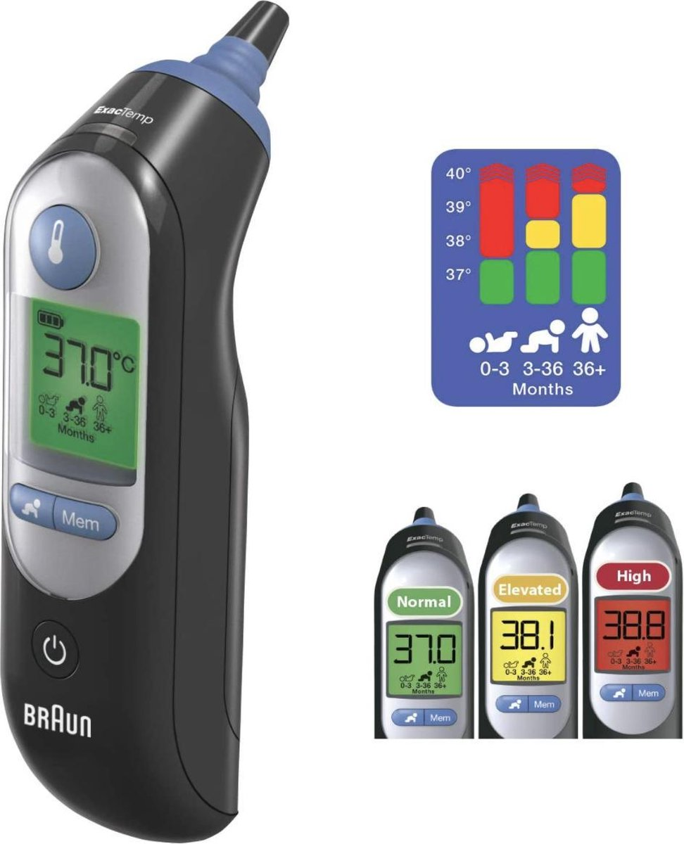 Braun ThermoScan 7 - Oor thermometer zwart 6520B