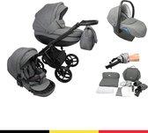 P'tit Chou Trento Grigio - Complete 3 in 1 Kinderwagen set - Buggy + Autostoel + Incl. Accessoires
