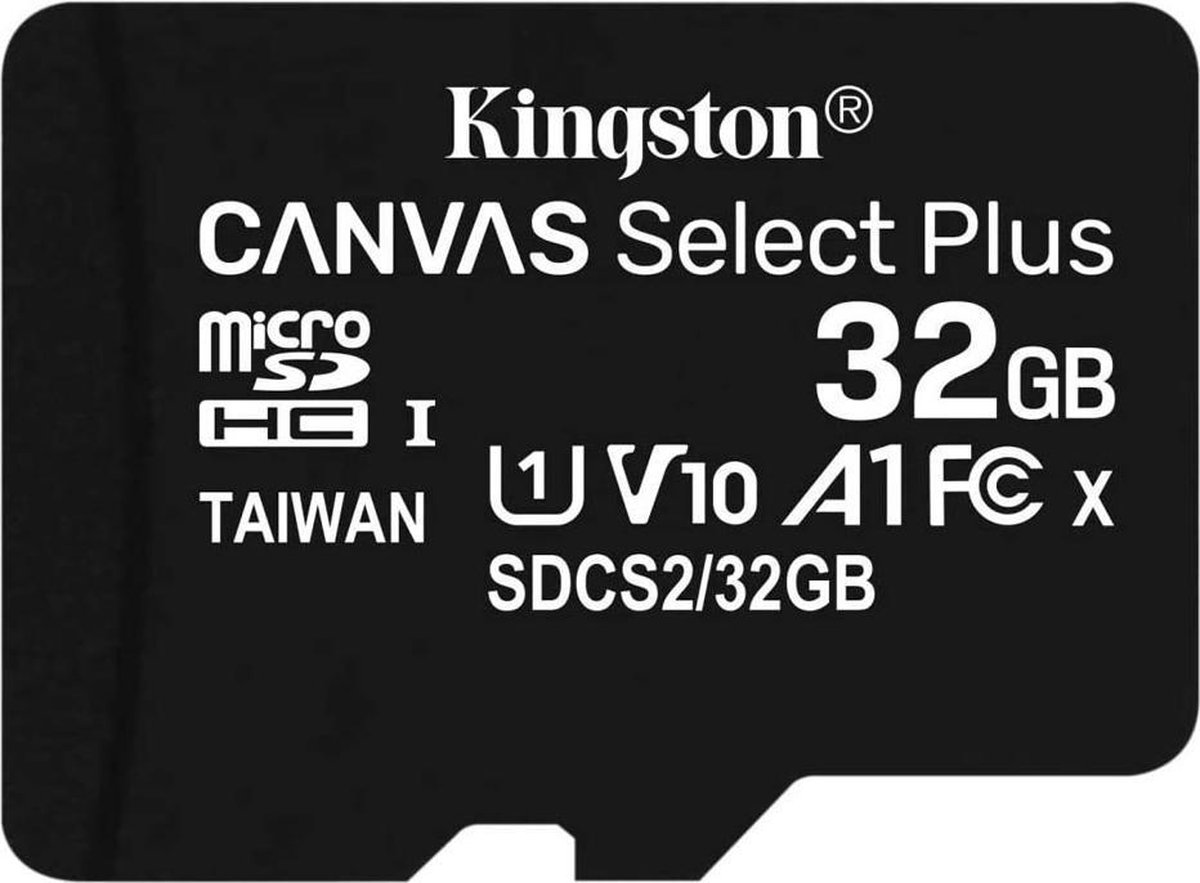 Kingston - SDHC Geheugenkaart - Class 10 - Inclusief adapter - 32 GB