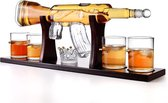 Bottle Out Luxe Whiskey Set – 1L - Inclusief 4 Whiskey Kogel Glazen - Karaf - Whiskey Karaf Set - Whiskey Karaf AK47