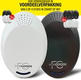 ForGoods® Ultrasone Ongedierte Verjager  - Muizenverjager - Muizenval - Insecten Bestrijden - Ongedierte Bestrijden - Diervriendelijk - (1 stuk zwart) - Extra Sterk - Model 2021