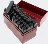 Set Slagletters & -nummers, 36-delig. 10 mm hoogte, Slagcijfer, Stanzletters, inslagletters voor Chassisnummer, maar uiteraard ook voor op leer geschikt - Multistrobe