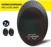 ForGoods® Ultrasone Ongedierte Verjager  - Muizenverjager - Ultrasone Verjagers - Ongedierte Bestrijder - Diervriendelijk - (2 stuks zwart) - Extra Sterk - Model 2021