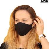 Afbeelding van Premium Kwaliteit Katoen Mondkapje - Mondmasker - Gezichtsmasker | Herbruikbaar / Wasbaar | Zwart - AWR