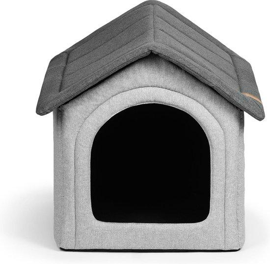 """Hondenhuis, hondenhut, dierenhuisje, hondenhok, hondenhuisje- Shack """"Home"""" gray"""