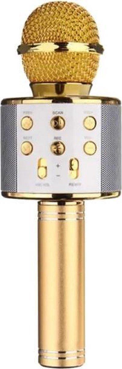 iBello Draadloze Karaoke microfoon Goud - Bluetooth - Geschikt voor Android & iOS