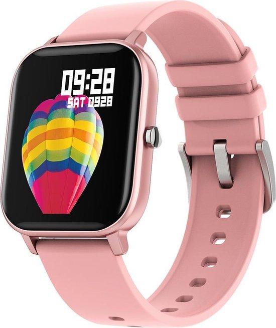 Colmi P8 Smart Watch / Fitness Tracker met hartslag- en bloeddrukmeter, slaapmonitor & meldingen - Roze - Android & iOS - Waterdicht