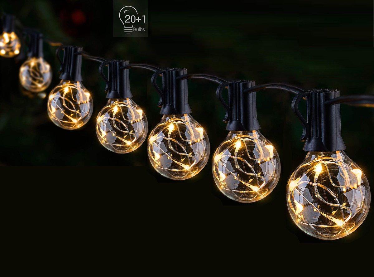 FlinQ Smart LED Lichtslinger Multicolor - Slimme Lichtketting - 20 Ledlampjes - Lichtsnoer voor binn