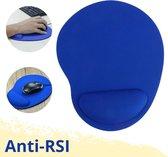 Lynnz® Ergonomische muismat met polssteun blauw   gel - anti RSI - ergonomisch - anti slip - muismatten - gaming - muismatje