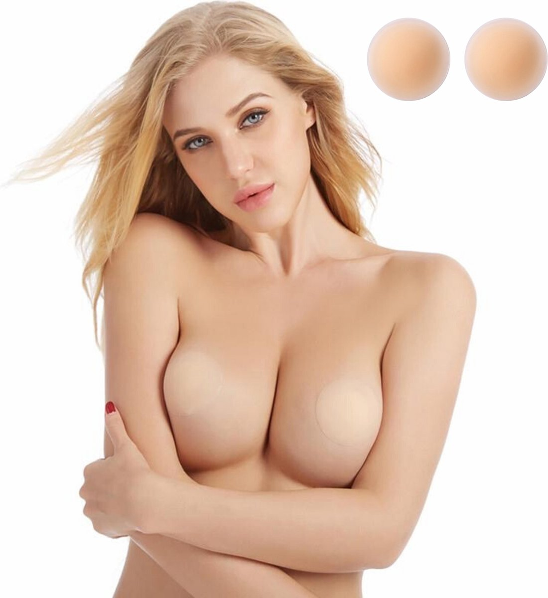 Phannie 1 Paar Tepelcovers Nude Matte - One Size - Siliconen - Tepelplakkers