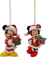 Mickey & Minnie-ornamenten Hoogte: 9 CM.