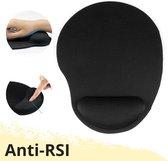 Lynnz® Ergonomische muismat met polssteun zwart   gel - anti RSI - ergonomisch - anti slip - muismatten - gaming - muismatje