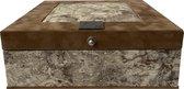 The Box For Tea Lichtbruine Aarde Theedoos Met Thee Cadeau - 9 vaks - Bruin