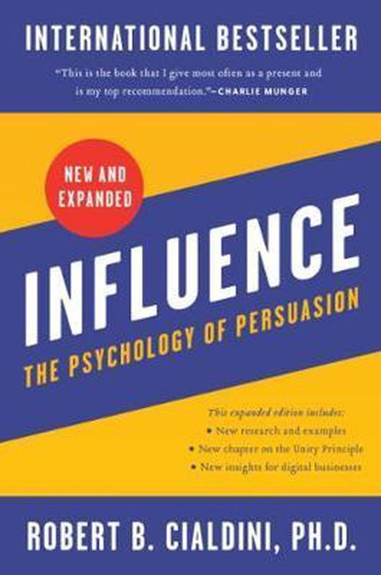 Boek cover Influence, New and Expanded van Robert B Cialdini, PhD (Hardcover)