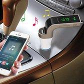 Silver Auto Bluetooth FM-transmitter 4 in 1, FM-tr