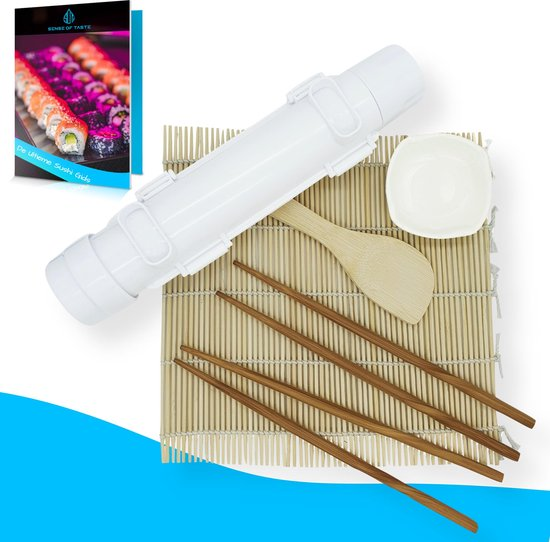 Sushi Bazooka Set incl. Rolmat + 2 Paar Chopsticks + Rijstlepel + Sausbakje - Sushi Maker
