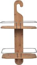 Bamboe Hangend Doucherek 30x13x60cm - 2 Laags Badkamerrek - Badkamer – Doucherek met haak