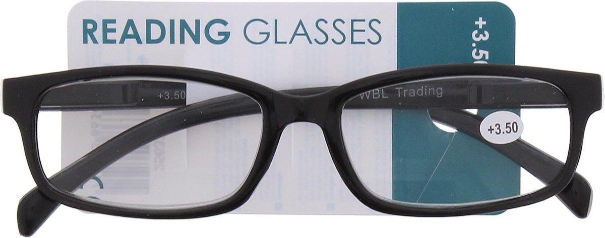 Leesbril Plastic Zwart/donkergrijs Unisex +3.5 Dpt kopen