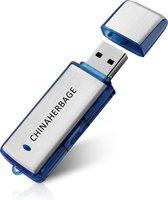 Voice recorder USB Flash 8GB Blauw en zilver