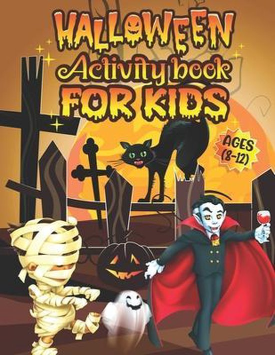 Halloween Activity Book For Kids Ages 8-12