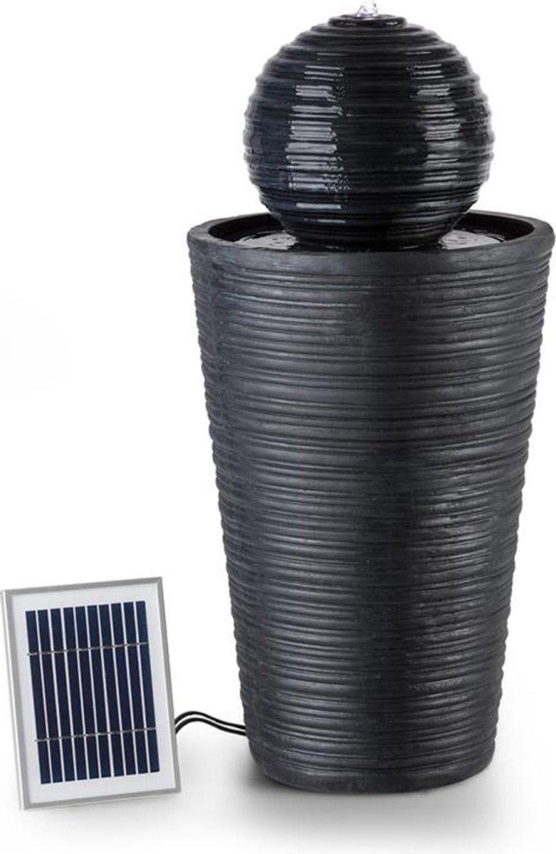 Liquitorre zonne-energie fontein 200l/h zonnepaneel 2w accu LED polyresin