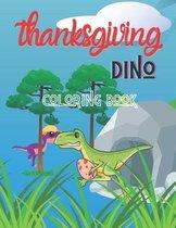 Thanksgiving dino coloring book