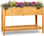 blumfeldt Altiplano Cubic kweekbak - plantenbak - voor verse oogst en groente, kruiden en bloemen - Inclusief tuinvlies - ErgoGrow grenenhout