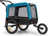 """Klarfit Husky Vario 2-in-1 hondenfietskar hondenbuggy 240 liter - Past bij alle fietsen met 26-28""""- 600D Oxford  canvas"""