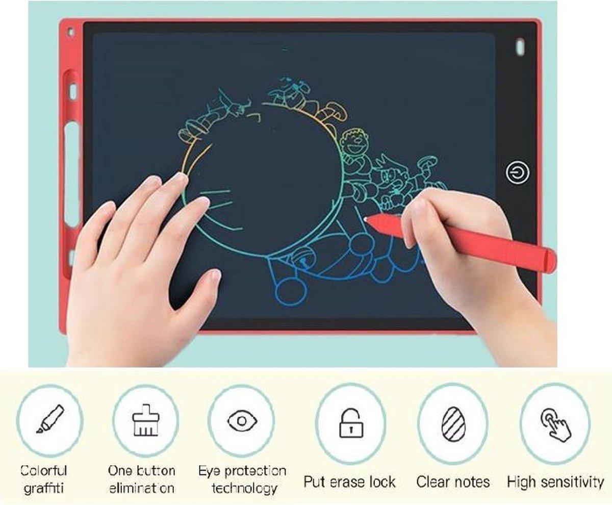 Lcd Schrijven Tablet 10 Inch Rood Elektronische Digitale Graphics Tekentafel Doodle Pad Met Stylus Pen Draagbare Gift Voor iemand