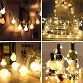 Lichtsnoer Buiten - Cotton Ball Lights - Lichtslinger 15 Meter, 50 LED Lichtjes – Waterdicht – Partylights – Led Lampjes – Decoratie Woonkamer – Sfeerverlichting – Tuinverlichting – Buitenverlichting – Tuinlampen – Bruiloft Versiering