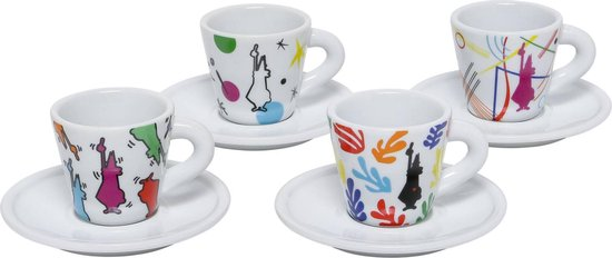 Bialetti espressokopjes-set Arte porcellana 4-delig