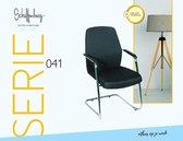 Vergaderstoel - Schaffenburg 041 conferentiestoel, zwart/chroom