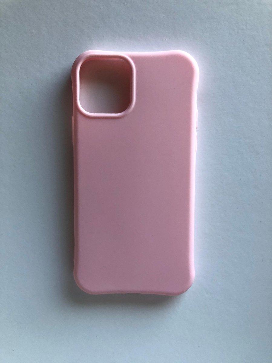 Appel iPhone 11 Pro / Hoes / Hoesje / Roze / Backcover / TPU/ Silikonen Softcase / Case / Cadeau / Telefoon Accessoires / Beschermd / Draadlos opladen /
