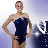 Turnpakjes Gympakjes Mystique Sky blauw meisjes turnen gymnastiek blauwe turnkleding maat 36-38