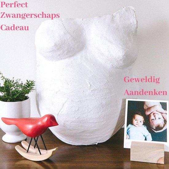 Gipsbuik Pakket met 4 Rollen Extra Groot Gips verband en Gladde Afdruk– Beeldhouwkwaliteit en Niet Toxisch – Zwangerschaps Cadeau