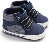 Blauwe schoenen | gympen | baby jongens | antislip zachte zool | 0 tot 6 maanden | maat 18 | baby accessoires