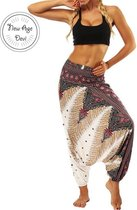 yoga pants loose women high waist Women Summer Loose Yoga Trousers Baggy Boho Jumpsuit Harem Pants gym White Fractal