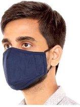 Premium Blauw Mondkapje - Navy wasbaar Herbruikbaar mondmasker met neusbeugel - Chibaa - facemask - mouthmask - incl. 2 filters