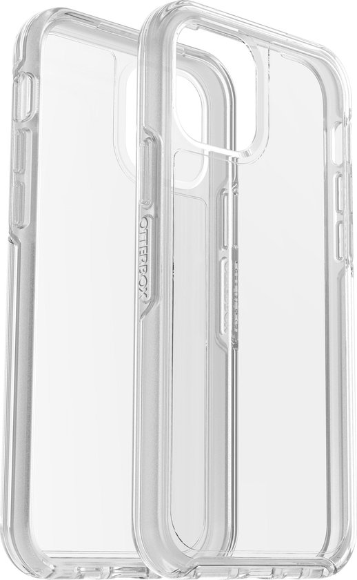 OtterBox symmetry clear case + AlphaGlass voor iPhone 12/iPhone 12 Pro - Transparant