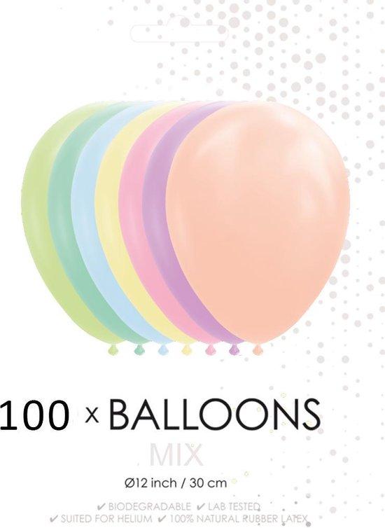 100 Neon ballonnen 30 cm.